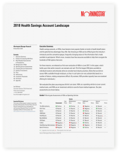 Morningstar 2018 Health Savings Account Landscape Cover